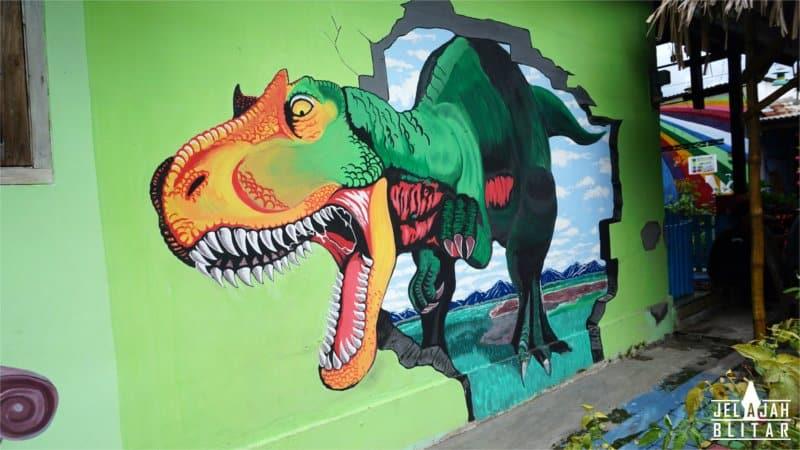 Lukisan 3D di  Blitar