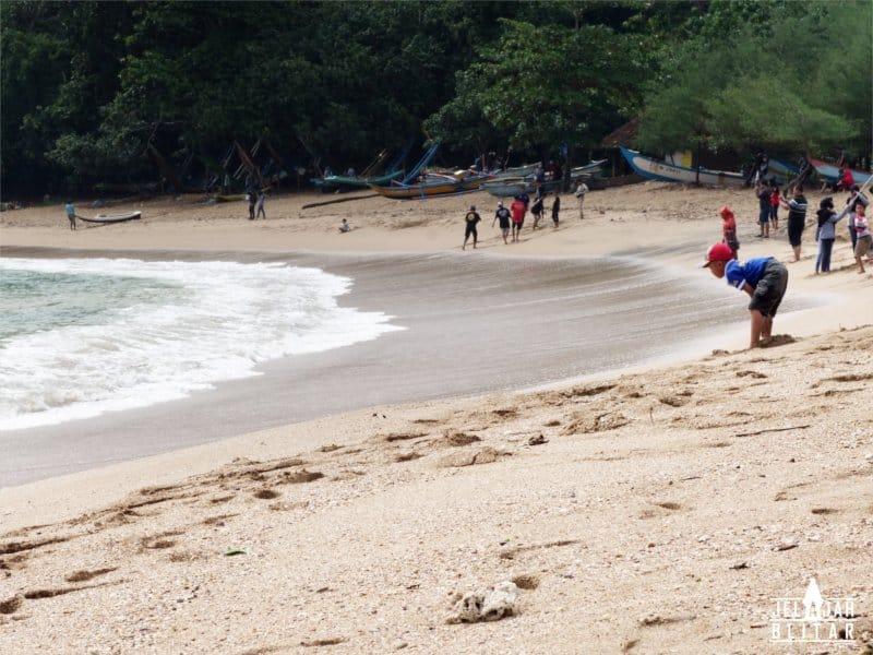 Wisatawan Pantai Pangi