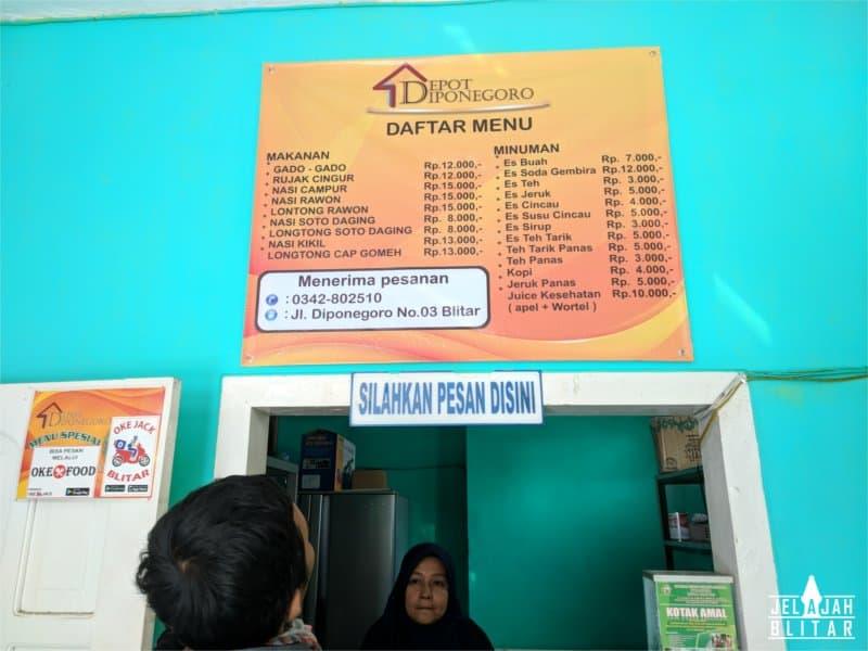 Menu Depot Diponegoro
