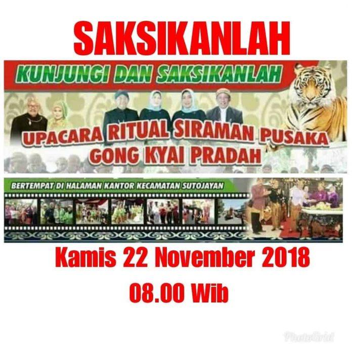 Siraman Gong Kyai Pradah 2018