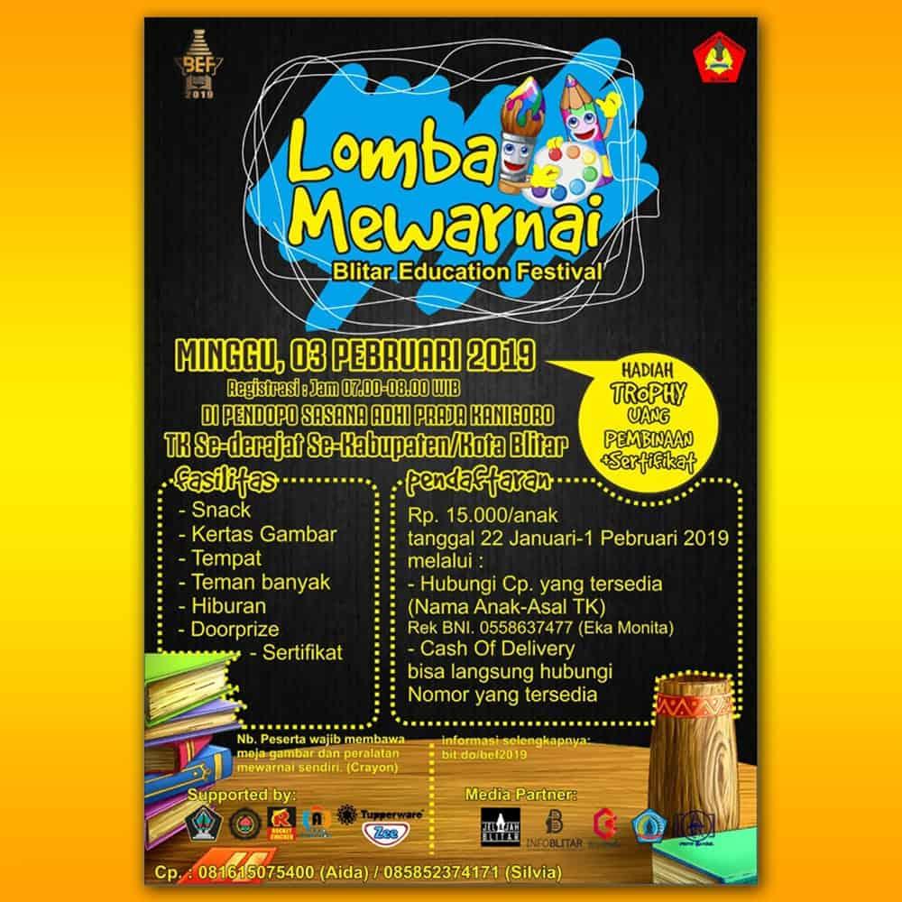 Lomba mewarnai di Blitar Education Festival 2019