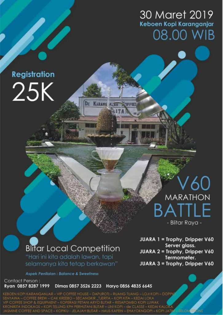 V60 Marathon Battle Blitar Maret 2019