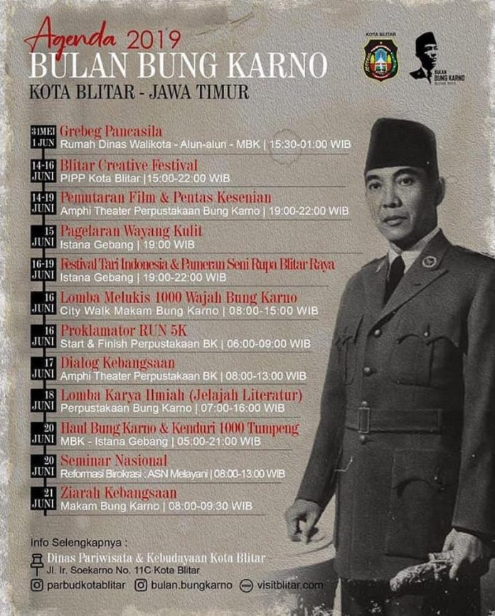 Agenda Bulan Bung Karno 2019 di Blitar