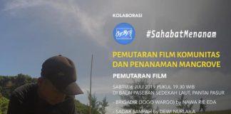 Pemutaran Film dan Penanaman di Pantai Pasur