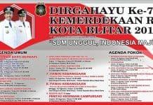 Agenda HUT RI Kota Blitar ke 74 Tahun 2019