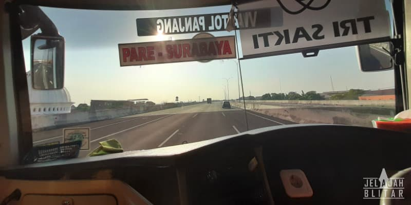 Bus Blitar Surabaya dan Surabaya Blitar Lewat Tol