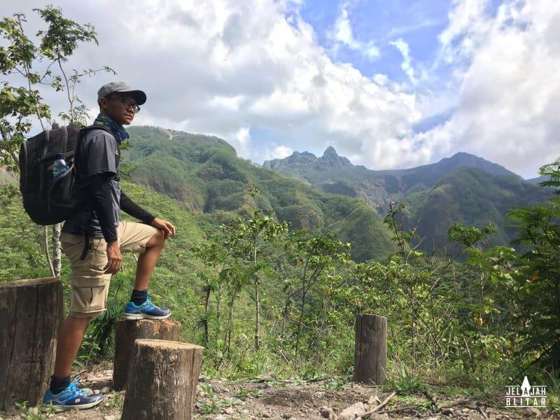 Pemandangan Pos 3 Gunung Kelud