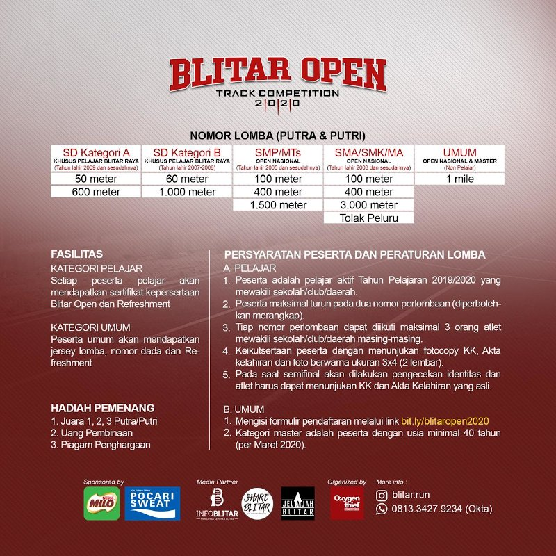 Blitar Open Track Competition 2020